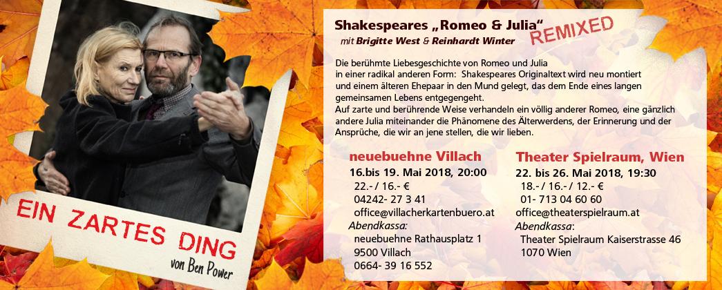 """""""Ein zartes Ding"""", Theater Spielraum, Wien."""